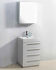 "Virtu USA 24"" Single Bathroom Vanity Bailey White VU-JS-50524-GW"