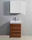"Virtu USA 24"" Single Sink Bathroom Vanity Bailey Plum VU-JS-50524-PL"