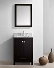 "Virtu USA 24"" Sink Bathroom Vanity Caroline VU-GS-50024-WMSQ-ES"