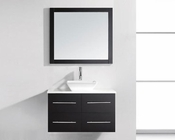 "Virtu USA 35"" Single Bathroom Vanity Marsala Espresso VU-MS-565-S-ES"