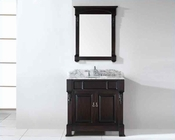 "Virtu USA 36"" Round Sink Bathroom Vanity Huntshire VU-GS-4036-WMRO-DW"