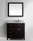 "Virtu USA 36"" Square Sink Bathroom Vanity Caroline VU-MS-2136L-WMSQ-ES"