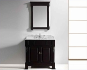 "Virtu USA 36"" Square Sink Bathroom Vanity Huntshire VU-GS-4036-WMSQ-DW"