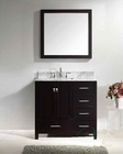 "Virtu USA 36"" Square Sink Bathroom Vanity Caroline VU-GS-50036-WMSQ-ES"