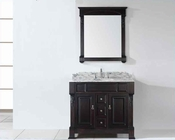 "Virtu USA 40"" Sink Bathroom Vanity Huntshire in VU-GS-4040-WMRO-DW"