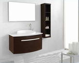 "Virtu USA 40"" Single Bathroom Vanity set Anabelle in Walnut VU-ES-1040"