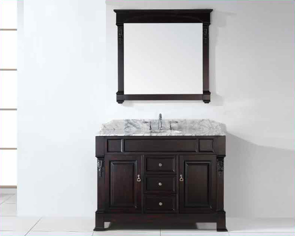 virtu usa 48 round sink bathroom vanity huntshire in gs