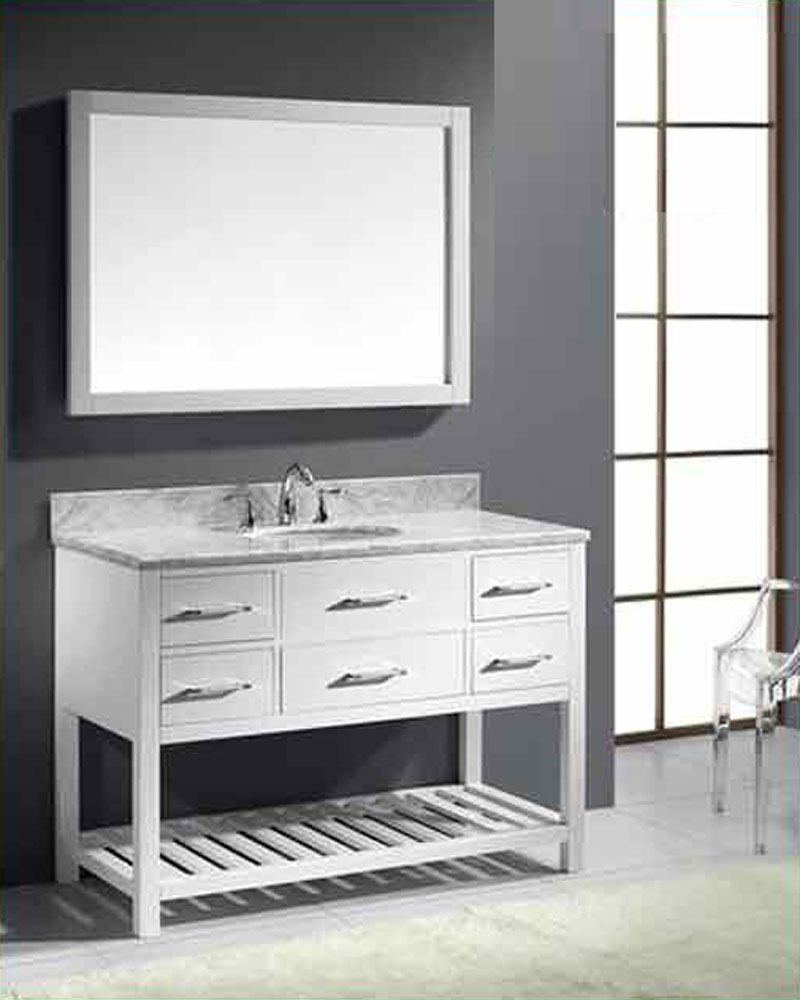 virtu usa 48 round sink bathroom vanity caroline vu ms