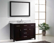 "Virtu USA 48"" Square Sink Bathroom Vanity Espresso VU-MS-2048-WMSQ-ES"