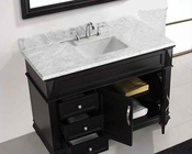 "Virtu USA 48"" Square Sink Bathroom Vanity set VU-MS-2648-WMSQ-ES"