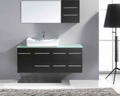 "Virtu USA 55"" Single Sink Bathroom Vanity Ceanna in Espresso VU-MS-430"