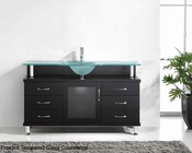 "Virtu USA 55"" Single Bathroom Vanity Vincente Espresso VU-MS-55-FG-ES"