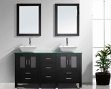 "Virtu USA 60"" Double Sink Bathroom Vanity Bradford Espresso VU-MD-4305"