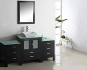 "Virtu USA 63"" Single Bathroom Vanity Brentford in Espresso VU-MS-4463"