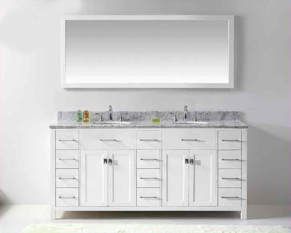 Magnificent 48 White Bathroom Vanity Cabinet Big Bathroom Water Closet Design Rectangular Tiled Baths Showers Silkroad Exclusive Pomona 72 Inch Double Sink Bathroom Vanity Young Rebath Average Costs PurpleBathroom Wall Fixtures USA 72\u0026quot; Round Sinks Bathroom Vanity Caroline VU MD 2172 WMRO WH