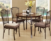 Walnut Finish Dining Set Barry by Acme Furniture AC70570SET
