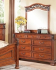 Walnut Finish Dresser w/ Mirror Manfred by Acme Furniture AC22775DM