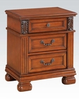 Walnut Finish Nightstand Manfred by Acme Furniture AC22773