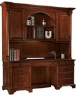 Weathered Cherry Executive Credenza w/ Hutch by Hekman HE-79271CH