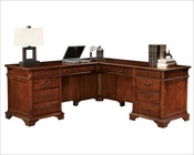 Weathered Cherry Executive L-Desk by Hekman HE-79277