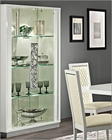 White 2 Glass Door Curio Made in Italy Roma 33229RM