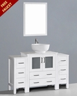 White 54in Round Vessel Sink Single Vanity by Bosconi BOAW130RO2S