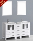 White 60in Double Integrated Sink Vanity by Bosconi BOAW224U1S