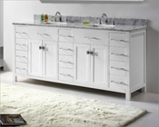 White 72in Vanity Caroline Parkway by Virtu USA VU-MD-2172-CAB-WH