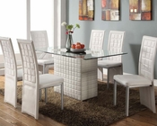 White Dining Set Abbie by Acme Furniture AC70718SET