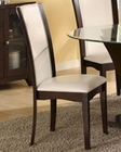 White Dining Side Chair Daisy EL-710WS ( Set of 2 )