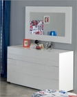 White Dresser and Mirror Made in Spain 701C London 33190LN
