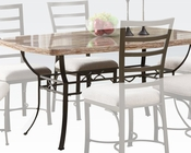 White Faux Marble Top Dining Table Val by Acme Furniture AC70094