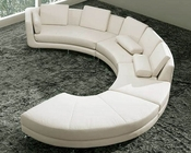 Circular Shape Leather Modern Sectional Sofa Set 44LA94