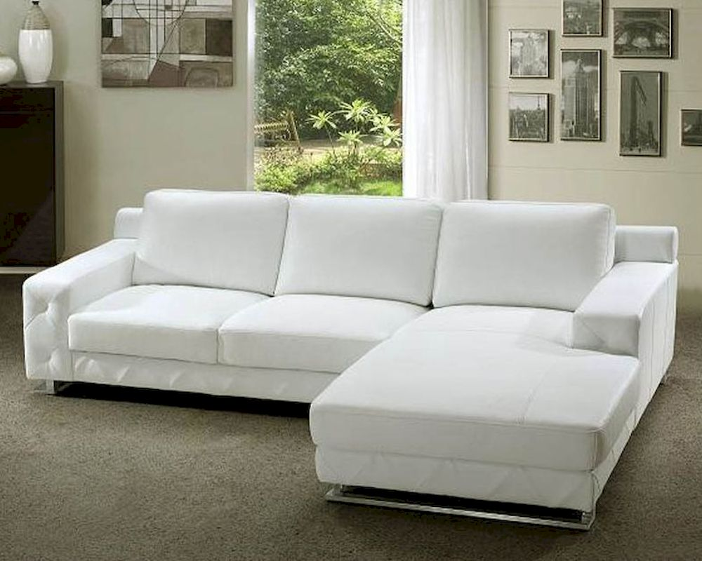 white leather sectional sofa set 44l0680