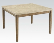 White Marble Top Counter Height Table Claudia by Acme AC71720