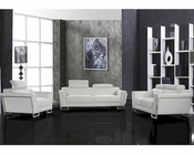 White Modern Design Leather Sofa Set 44L0658