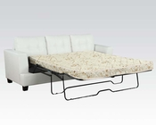 White Sofa w/ Queen Sleeper Platinum by Acme Furniture AC15062B