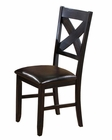 Winners Only Side Chair Edgewater in Espresso WO-DEX1450S (Set of 2)