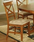 Winners Only Topaz Cinnamon X Back Side Chair WO-DT2451S (Set of 2)