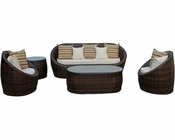 YuAnne Patio Sofa Set in Brown by Modway MY-EEI724