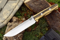 Bark River Knives: Bravo-1.5 CPM 3V Steel Fixed Blade Survival / Bushcraft / Military / Tactical / Utility / Outdoor / Fighting / Collector Knife w/ Black & White Ebony Handle - 1