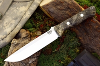 Bark River Knives: Bravo-1.5 CPM 3V Steel Fixed Blade Survival / Bushcraft / Military / Tactical / Utility / Outdoor / Fighting / Collector Knife w/ California Buckeye Burl Handle