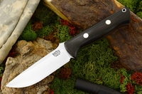 Bark River Knives: Bravo-1 CPM 3V Steel Fixed Blade Survival / Bushcraft / Military / Tactical / Fighting / Outdoor / Hunting / Collector Knife w/ Black Ebony Handle