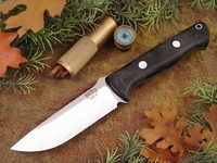 Bark River Knives: Bravo-1 CPM 3V Steel Fixed Blade Survival / Bushcraft / Military / Tactical / Fighting / Outdoor / Hunting / Collector Knife w/ Black G10 Handle, Matte Finish