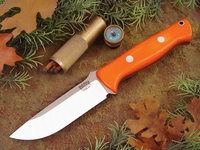 Bark River Knives: Bravo-1 CPM 3V Steel Fixed Blade Survival / Bushcraft / Military / Tactical / Fighting / Outdoor / Hunting / Collector Knife w/ Blaze Orange G10 Handle