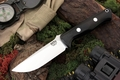 Bark River Knives: Bravo-1 LT CPM 3V Steel Fixed Blade Survival / Bushcraft / Military / Tactical / Fighting / Outdoor / Hunting / Collector Knife w/ Black Canvas Micarta Handle