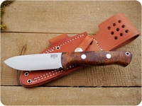 Bark River Knives: Bravo-1 (Rampless Smooth Spine, Spear Pont), Fixed Blade Survival / Bushcraft / Military / Tactical / Fighting / Collector Knife w/ Desert Ironwood Burl Handle - #1