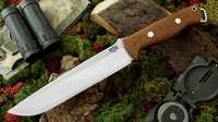 Bark River Knives: Bravo-2, A2 Steel, Fixed Blade Survival / Bushcraft / Military / Tactical / Utility / Fighting / Collector Knife w/ Brown Canvas Micarta Handle