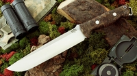 Bark River Knives: Bravo-2, A2 Steel, Fixed Blade Survival / Bushcraft / Military / Tactical / Utility / Fighting / Collector Knife w/ Nargusta Handle