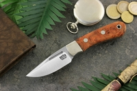 Bark River Knives: Essential EDC (With Bolster) Fixed Blade Every Day Carry / General Purpose / Personal Protection / Collector / Hunting Knife w/ Chatke Viga Burl Handle